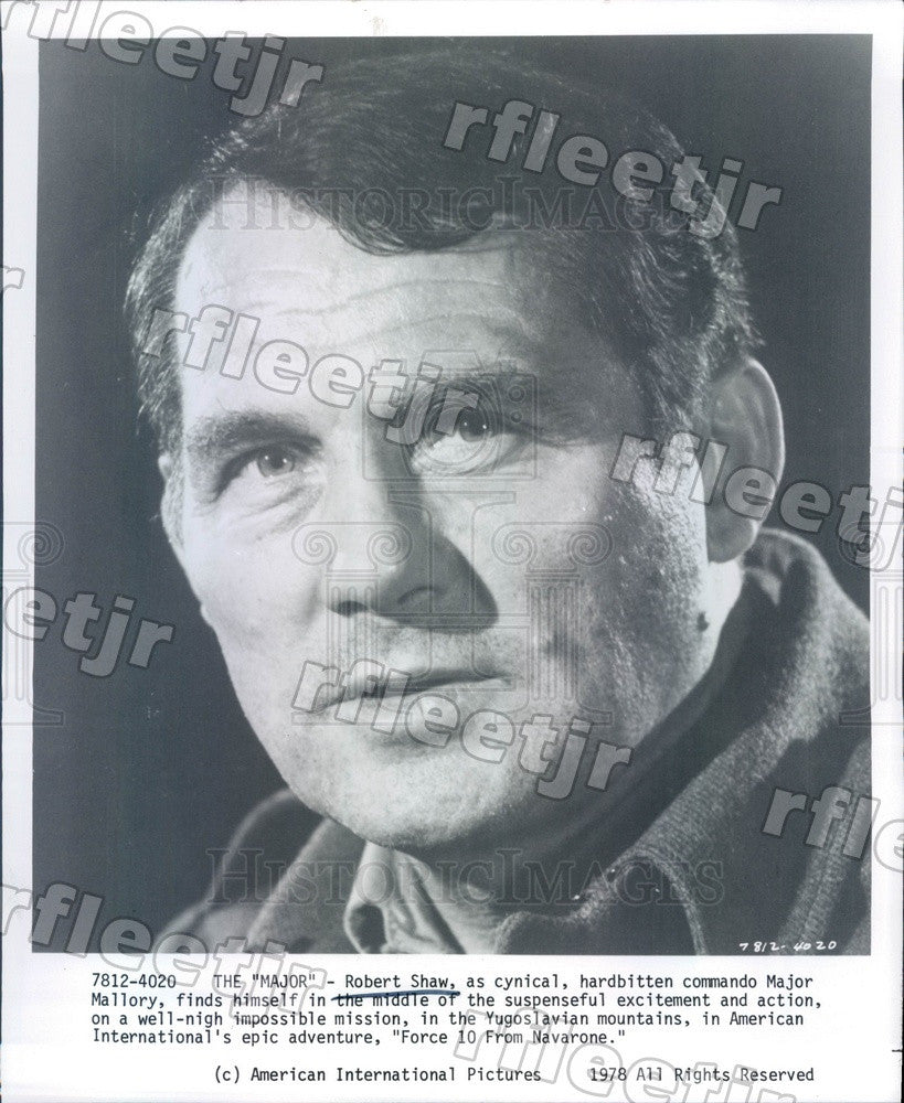 1978 Actor Robert Shaw in Film Force 10 From Navarone Press Photo adw739 - Historic Images