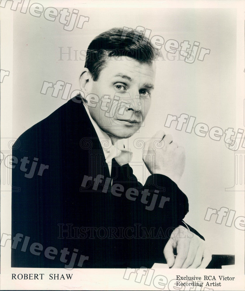 1964 Atlanta Symphony Orchestra Conductor Robert Shaw, Grammy Press Photo adw775 - Historic Images