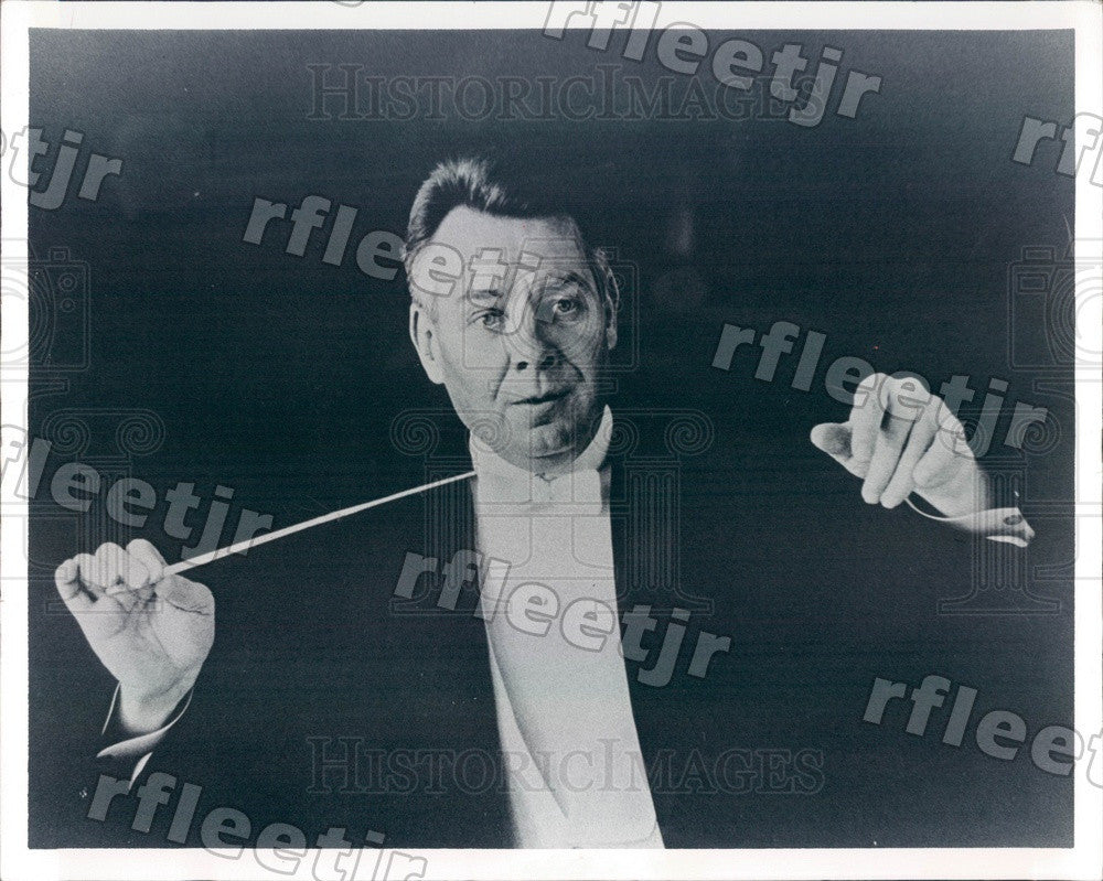 1975 Atlanta Symphony Orchestra Conductor Robert Shaw, Grammy Press Photo adw787 - Historic Images