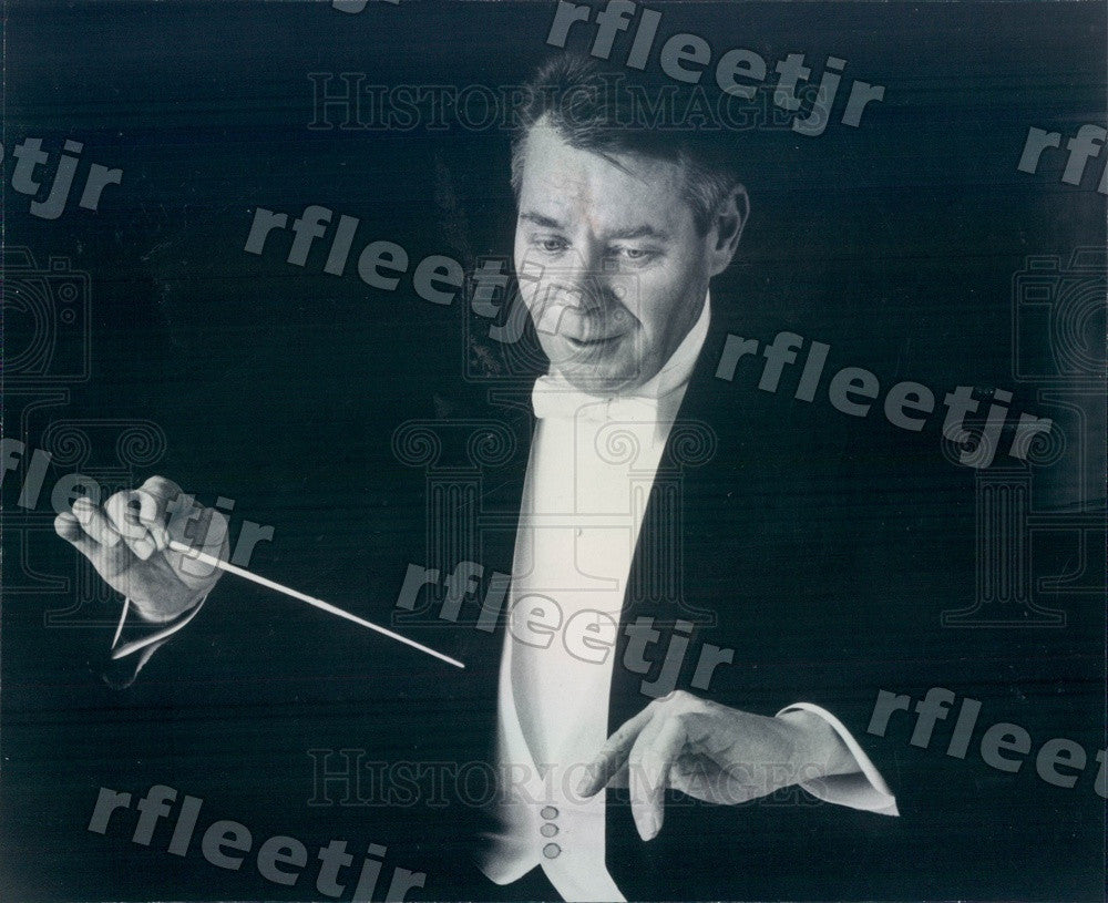 1970 Atlanta Symphony Orchestra Conductor Robert Shaw, Grammy Press Photo adw789 - Historic Images