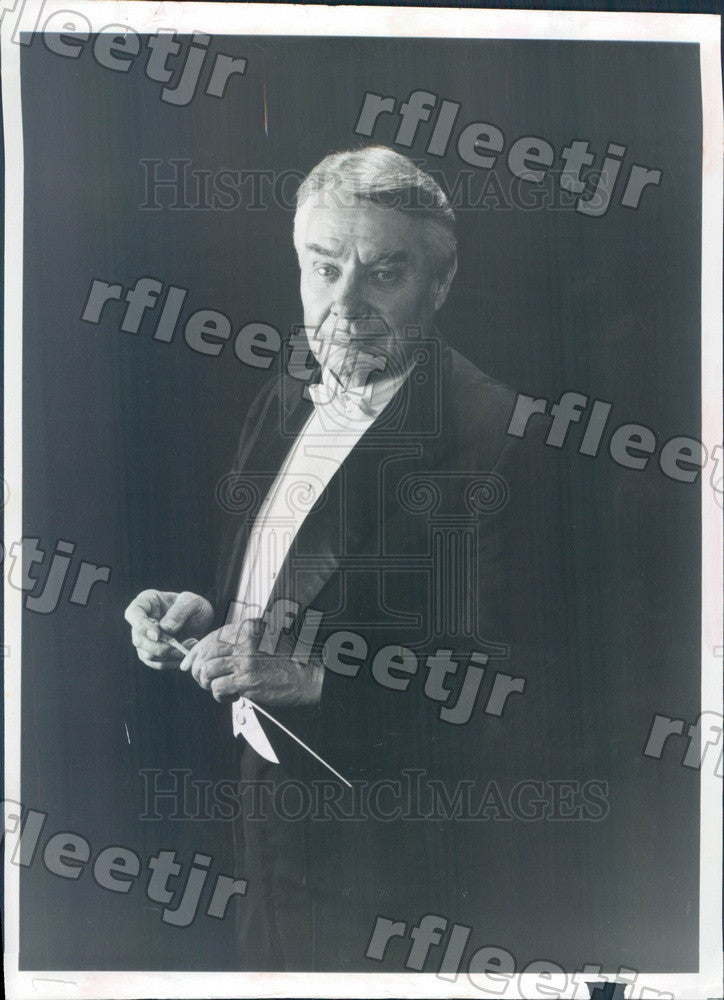 1984 Atlanta Symphony Orchestra Conductor Robert Shaw, Grammy Press Photo adw795 - Historic Images