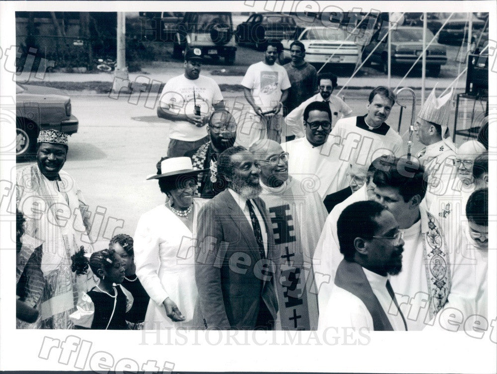 1991 Chicago, IL Rev George Clements of Holy Angels Church Press Photo adw833 - Historic Images