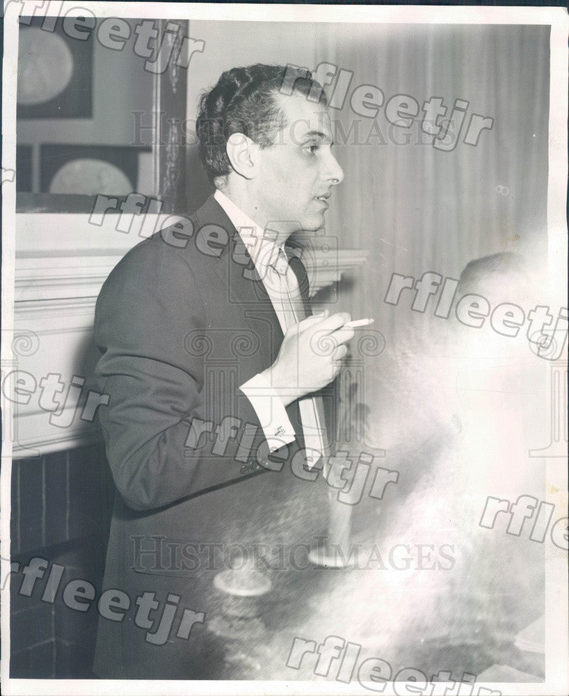 1956 Chicago Lyric Theatre Artistic Director Nicola Rescigno Press Photo adw891 - Historic Images