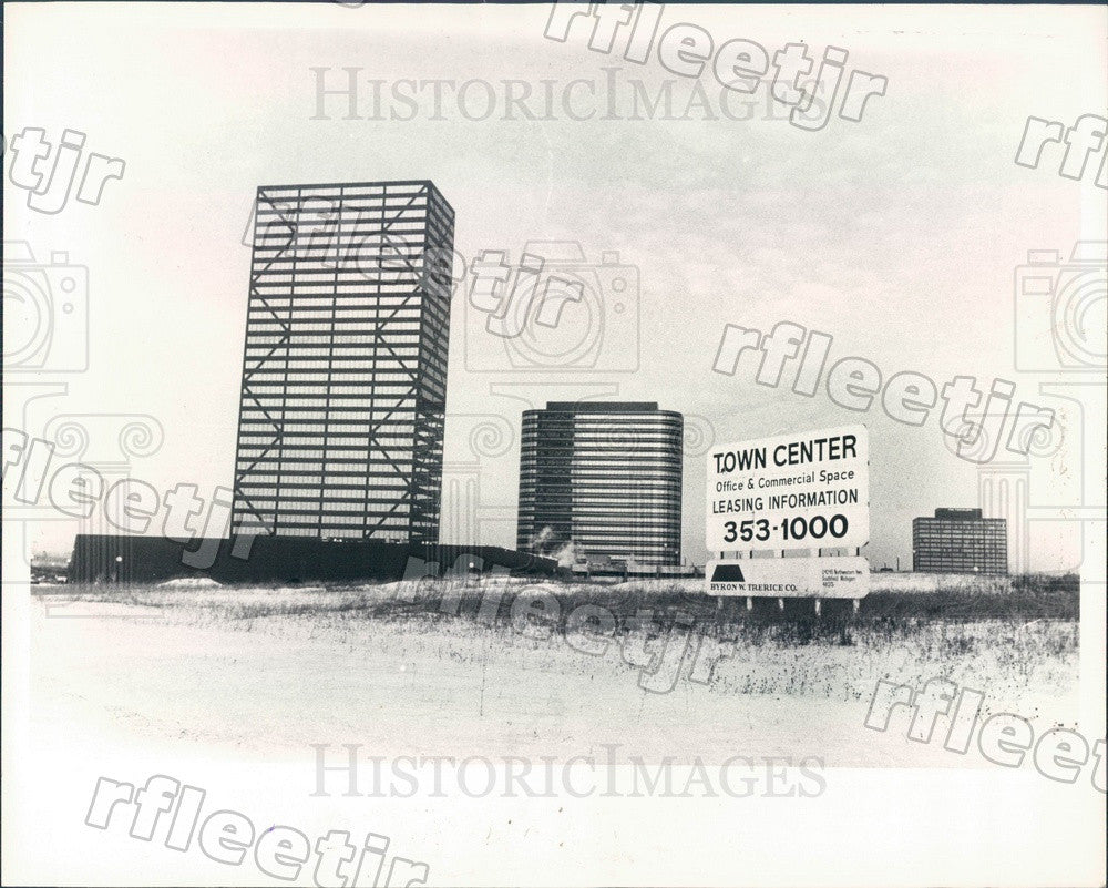 1981 Southfield, Michigan Prudential Town Center Press Photo adw933 - Historic Images