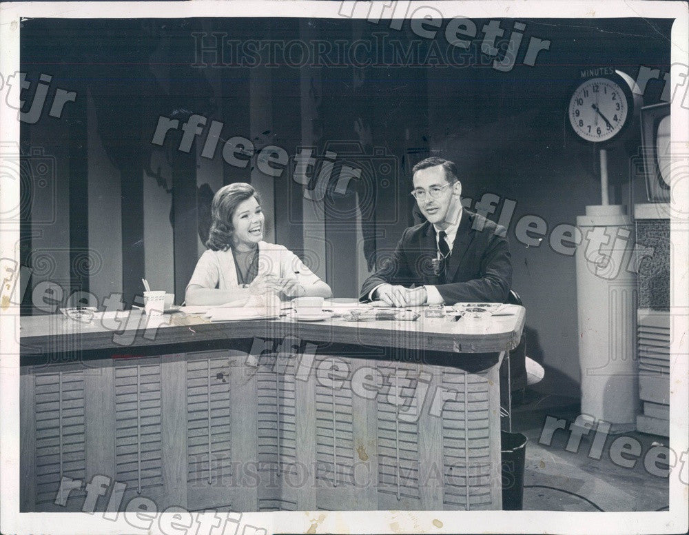 1961 Today Show Anchor John Chancellor & Louise O'Brien Press Photo adw987 - Historic Images