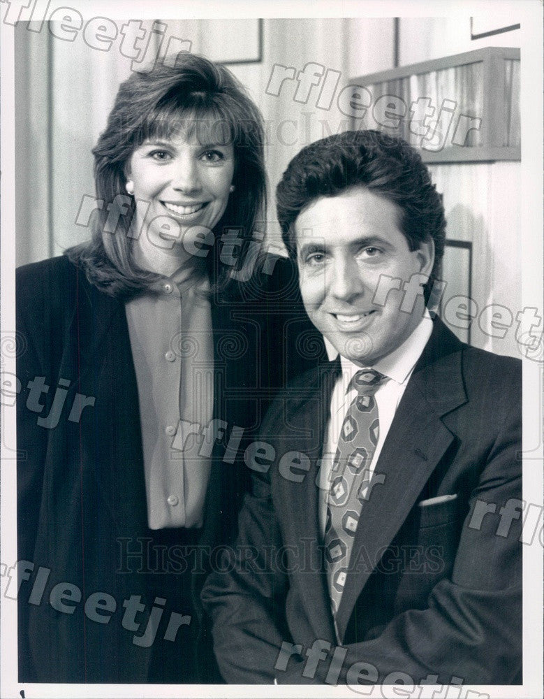 1991 TV Show TrialWatch Hosts Robb Weller & Lisa Specht Press Photo adw991 - Historic Images