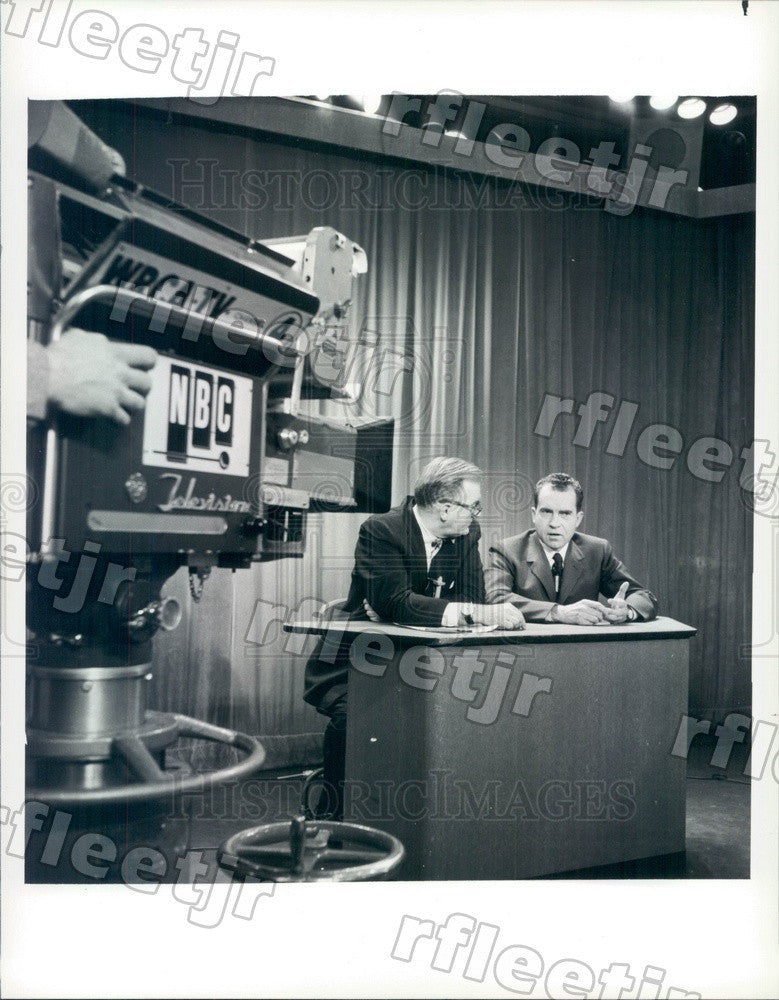 1986 NBC Today Show Host David Garroway & VP Richard Nixon Press Photo adw999 - Historic Images