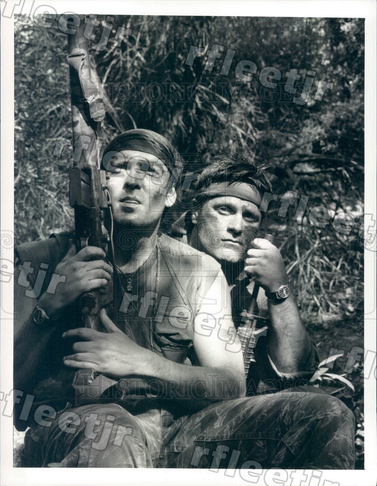 1989 Actors Michael Madson & Terence Knox on Tour of Duty Press Photo adx1003 - Historic Images