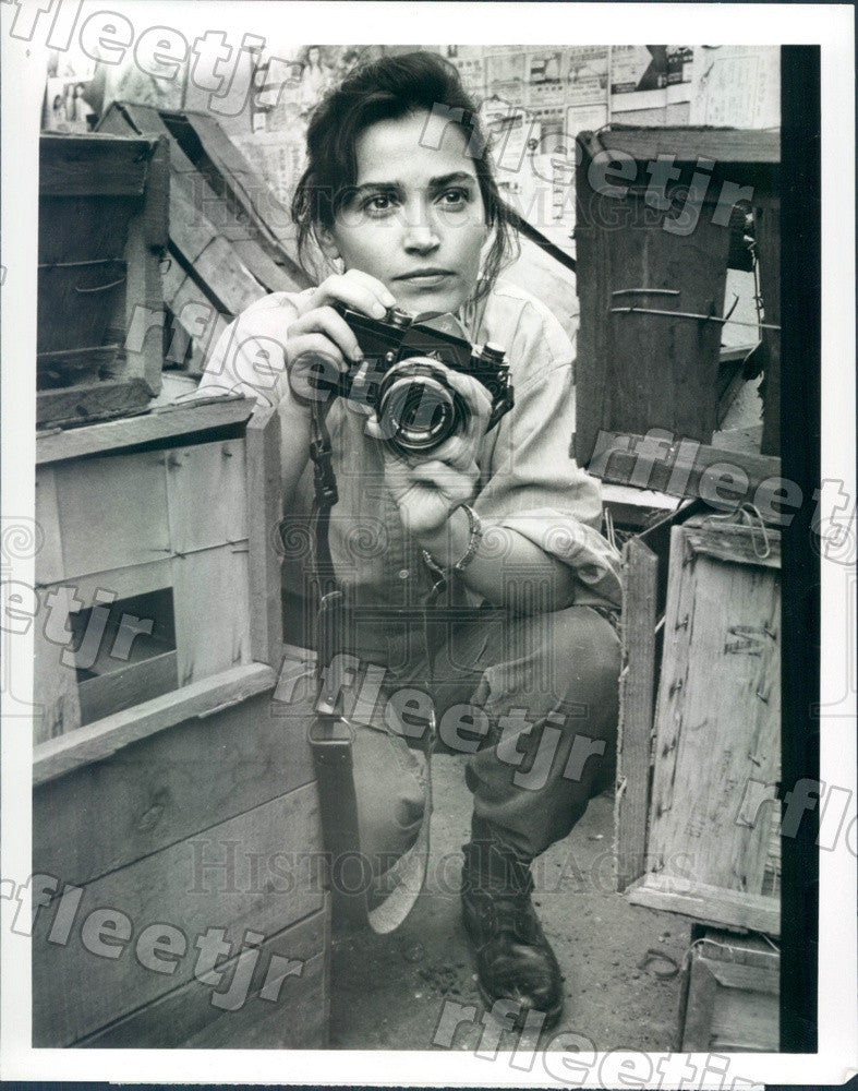 1989 Emmy Winning Actor Kim Delaney on TV Show Tour of Duty Press Photo adx1009 - Historic Images