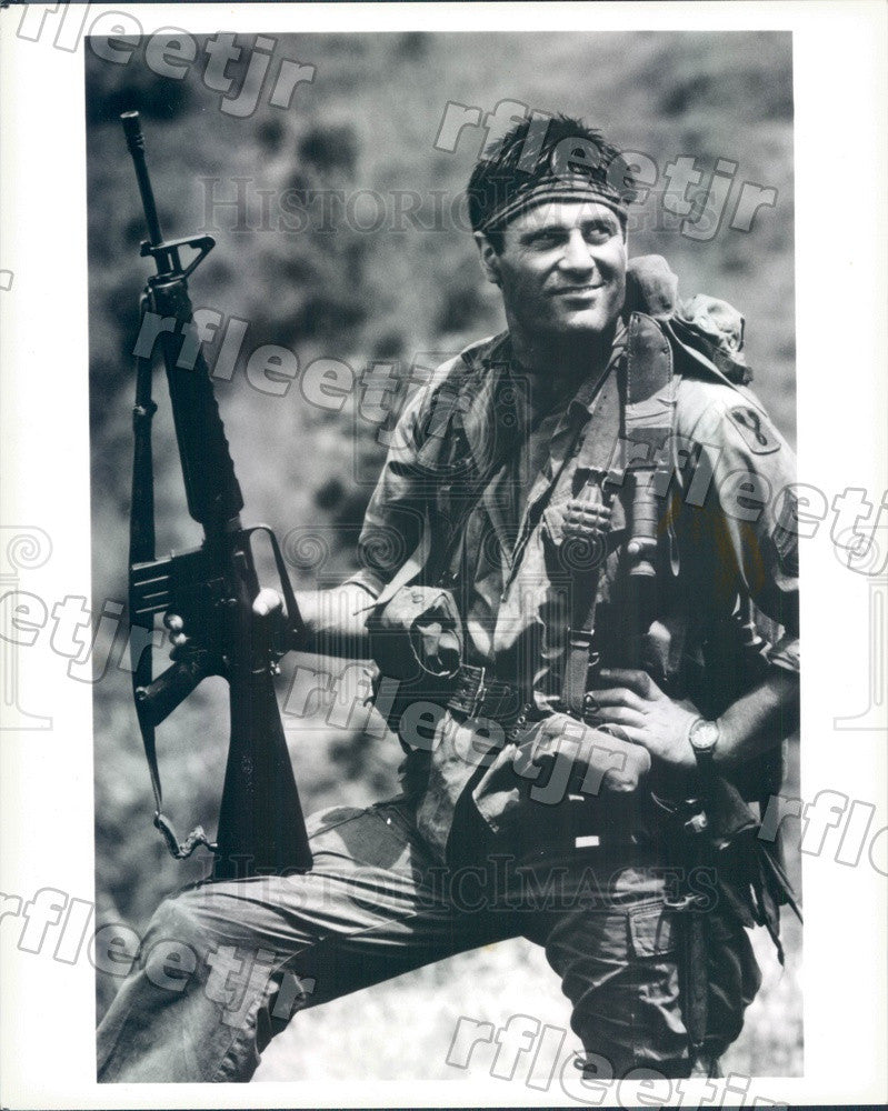 Undated Actor Terence Knox on TV Show Tour of Duty Press Photo adx1017 - Historic Images