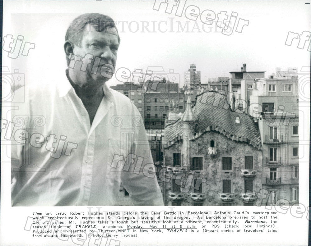 Undated Times Art Critic Robert Hughes in Barcelona on PBS Press Photo adx1047 - Historic Images