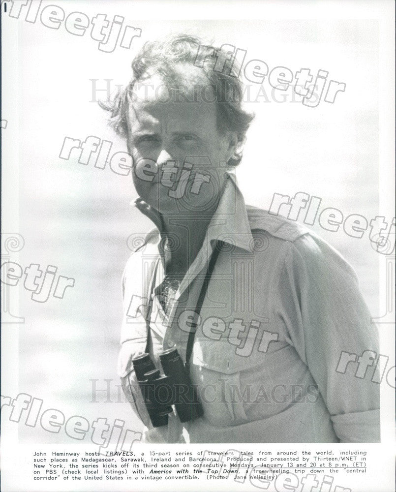 Undated James Heminway, Host of PBS Show Travels Press Photo adx1049 - Historic Images