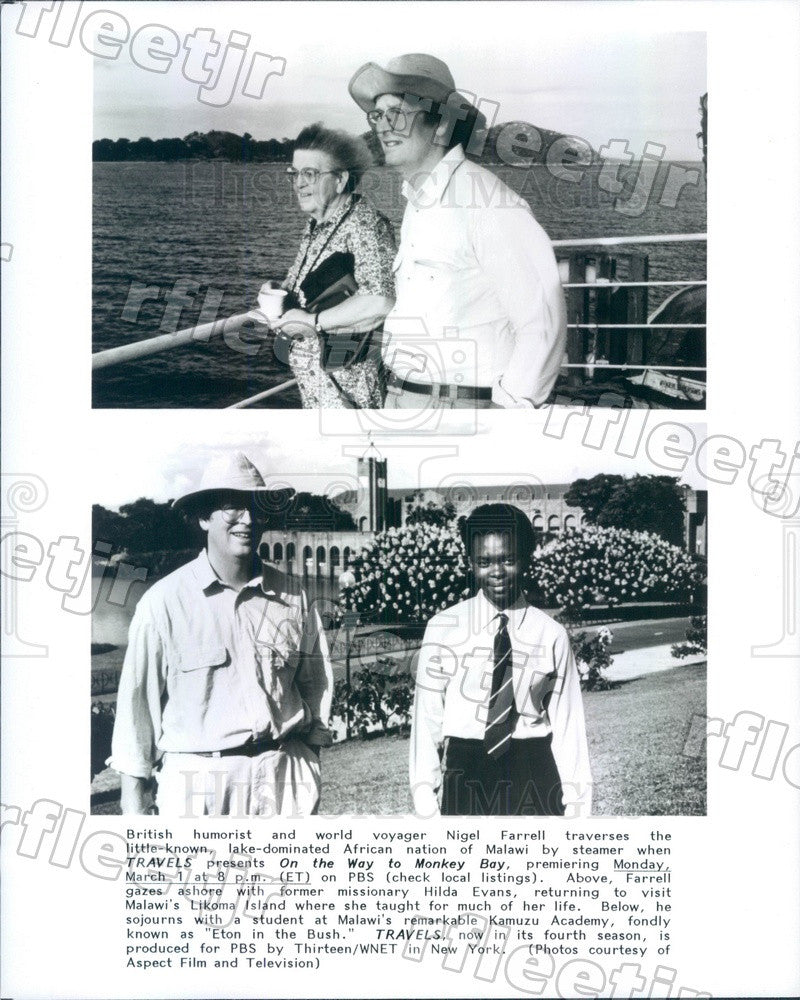 Undated British Humorist & World Voyager Nigel Farrell Press Photo adx1051 - Historic Images