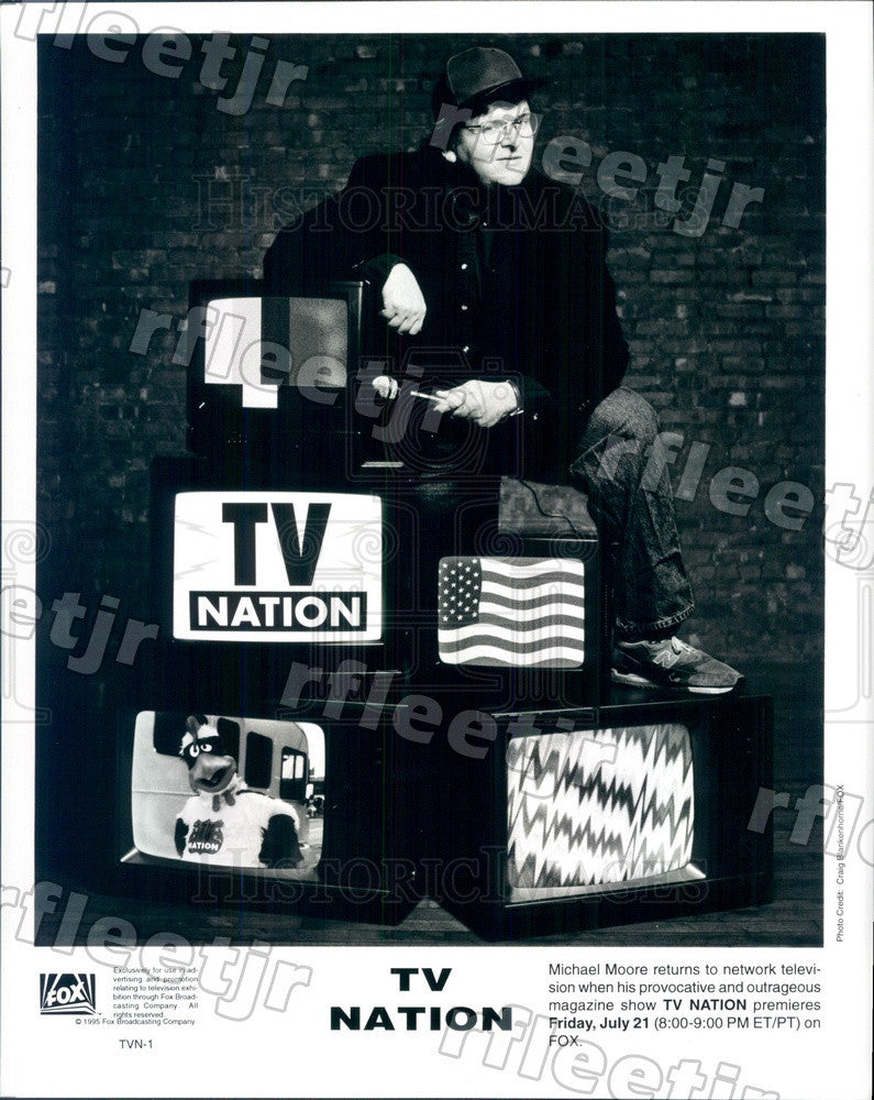 1995 Oscar Winning Documentary Filmmaker Michael Moore Press Photo adx1063 - Historic Images
