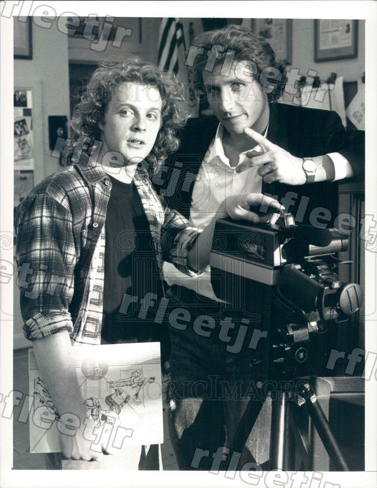 1988 Actors Andrew White & Sam Robards on TV Show TV 101 Press Photo adx1067 - Historic Images