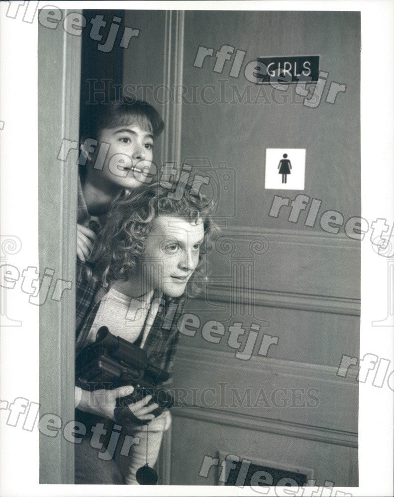1988 Actors Andrew White & Mary B Ward on TV Show TV 101 Press Photo adx1069 - Historic Images