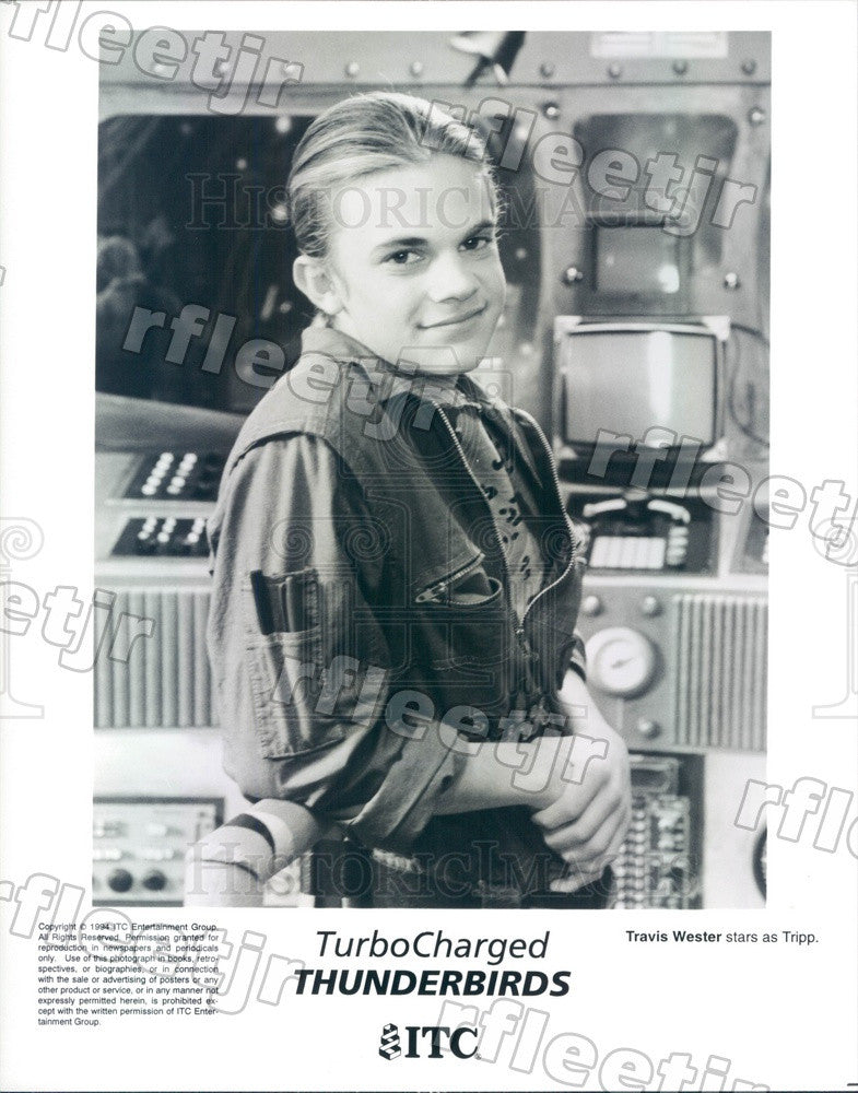1994 Actor Travis Wester in Film Turbocharged Thunderbirds Press Photo adx1075 - Historic Images