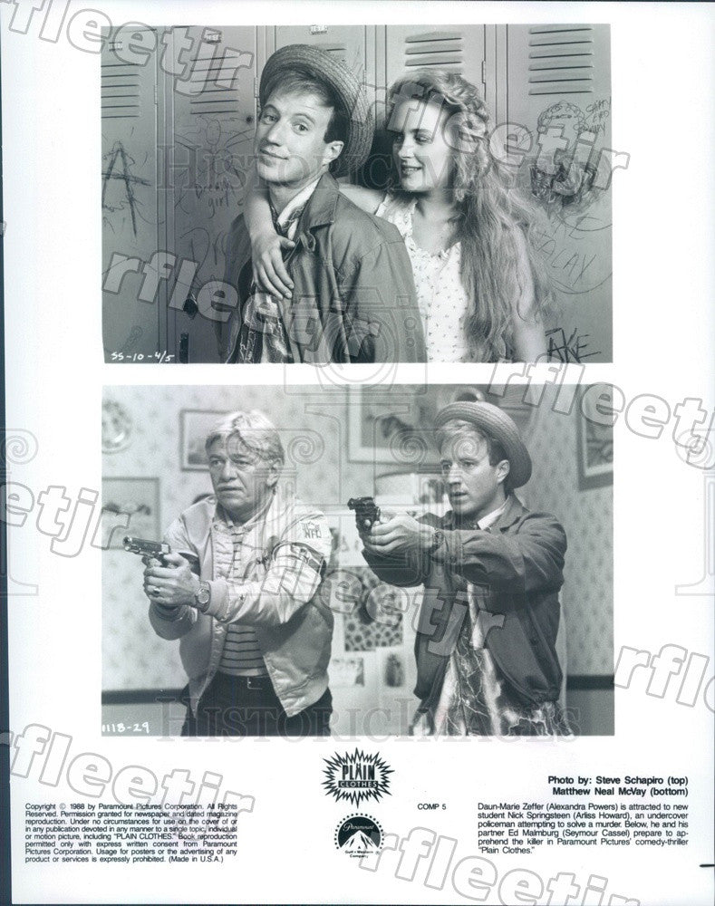 1988 Actors Alexandra Powers, Arliss Howard, Seymour Cassel Press Photo adx1077 - Historic Images