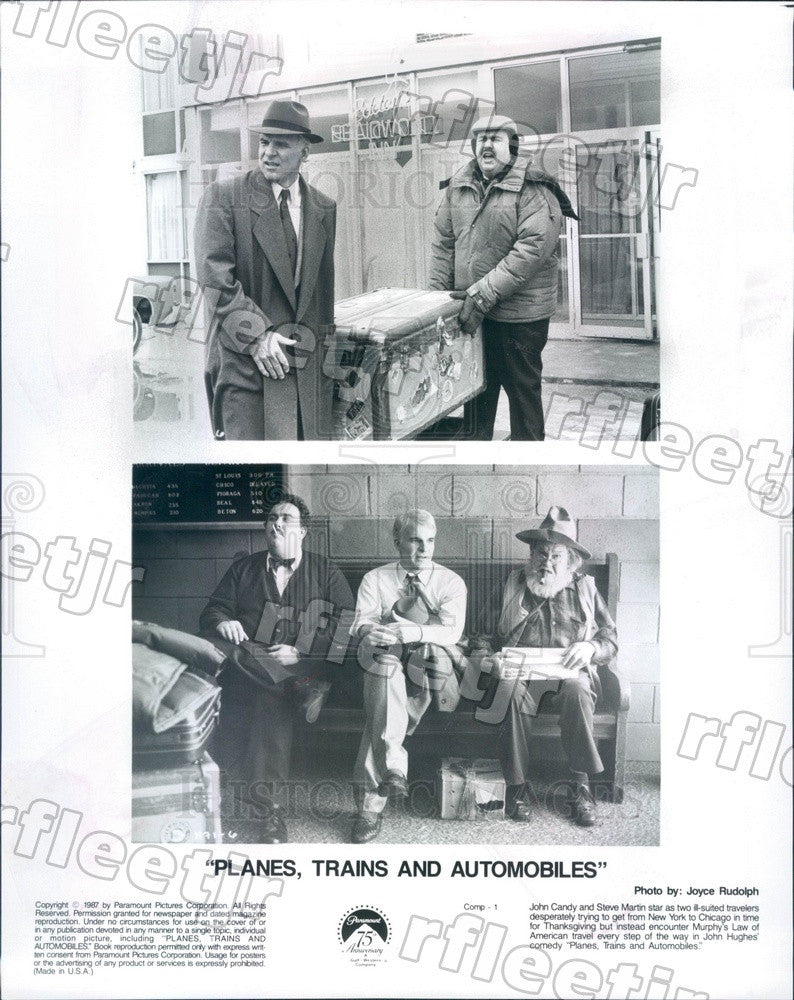 1987 Emmy Winning Actor Steve Martin & John Candy in Film Press Photo adx1079 - Historic Images