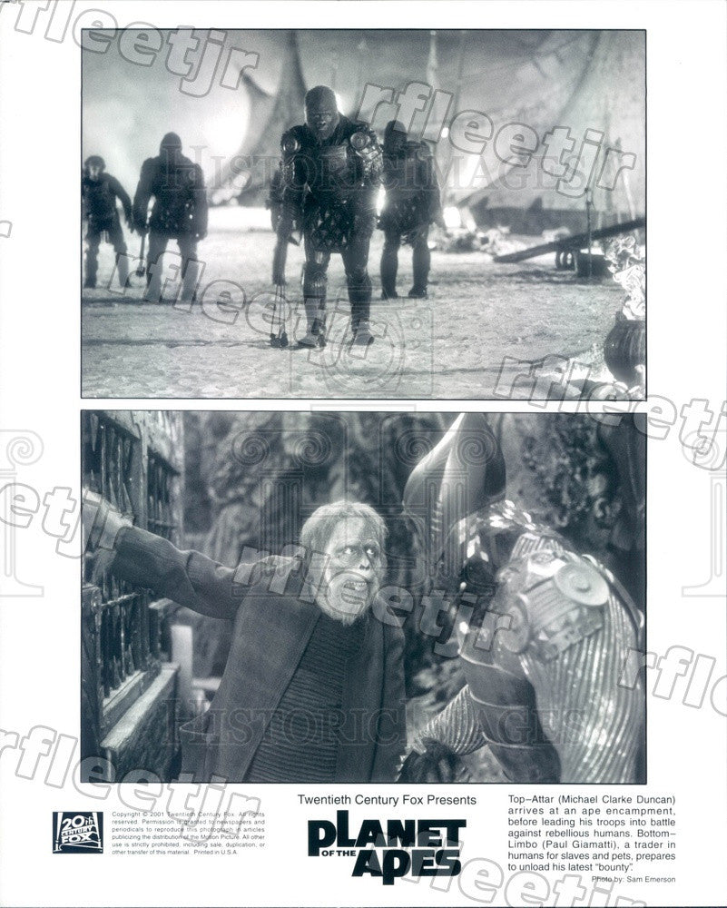 2001 Actors Michael Clarke Duncan, Emmy Winner Paul Giamatti Press Photo adx1085 - Historic Images