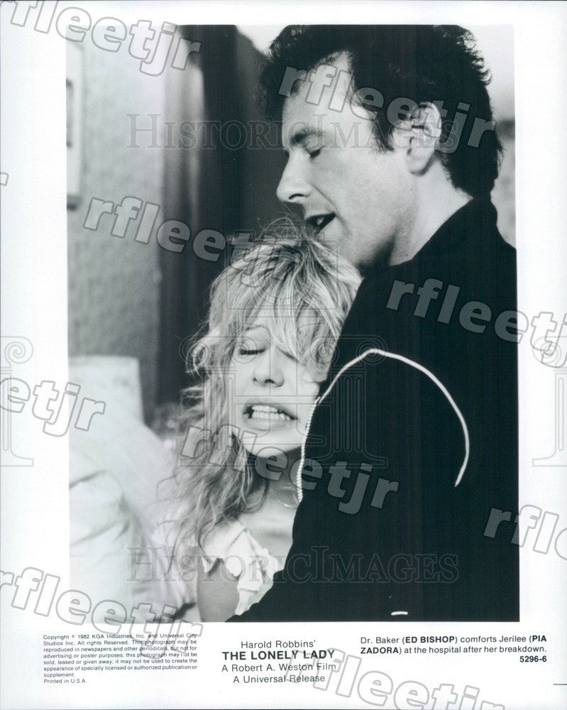1982 Actors Ed Bishop & Pia Zadora in Film The Lonely Lady Press Photo adx1089 - Historic Images
