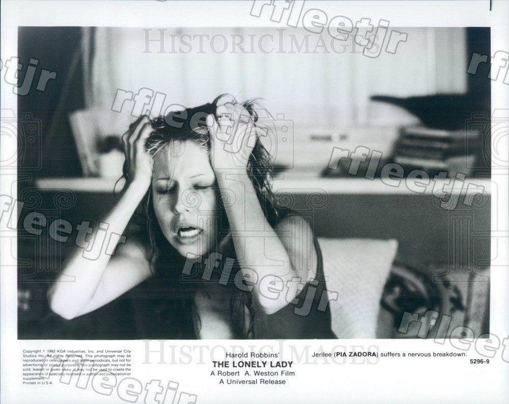 1982 American Actress Pia Zadora in Film The Lonely Lady Press Photo adx1091 - Historic Images