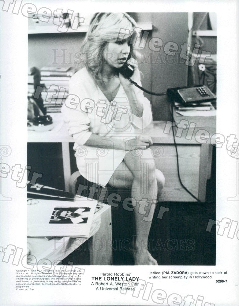 1982 Hollywood Actress Pia Zadora in Film The Lonely Lady Press Photo adx1095 - Historic Images