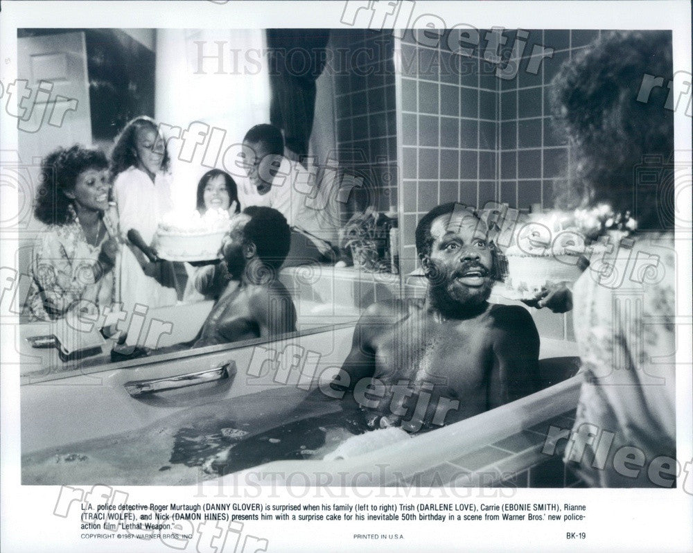 1987 Actors Danny Glover, Darlene Love, Ebonie Smith Press Photo adx1101 - Historic Images