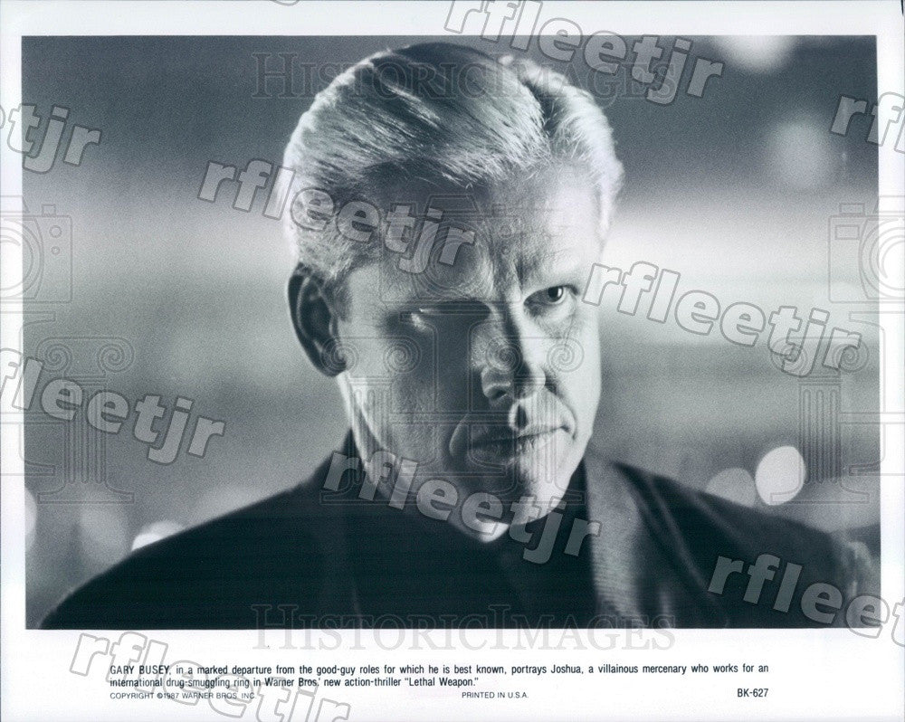 1987 Actor Gary Busey in Film Lethal Weapon Press Photo adx1107 - Historic Images