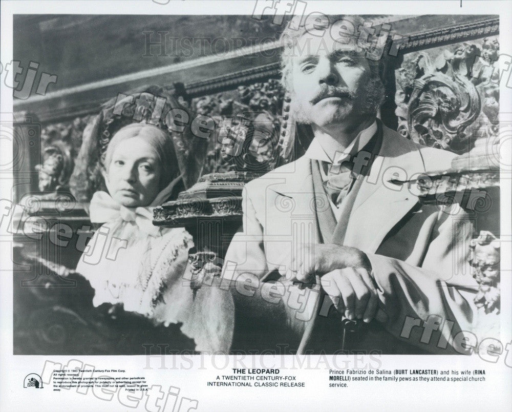 1983 Oscar Winning Actor Burt Lancaster & Rina Morelli Press Photo adx111 - Historic Images