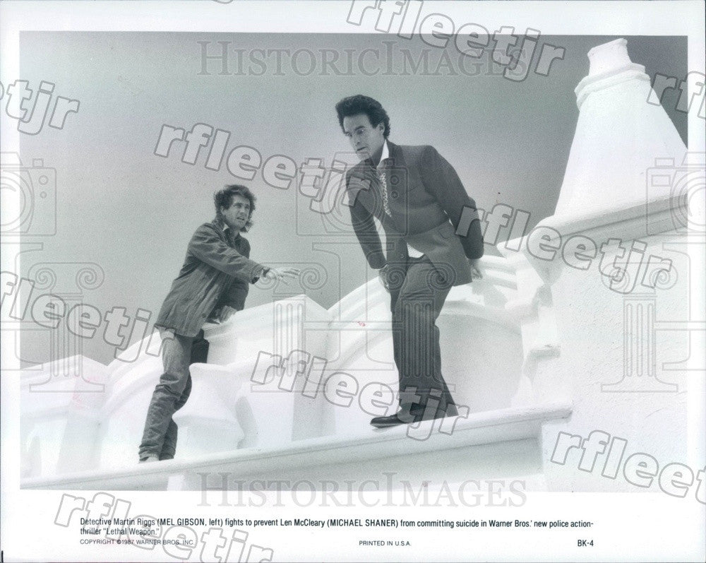 1987 Actors Mel Gibson, Michael Shaner in Film Lethal Weapon Press Photo adx1115 - Historic Images