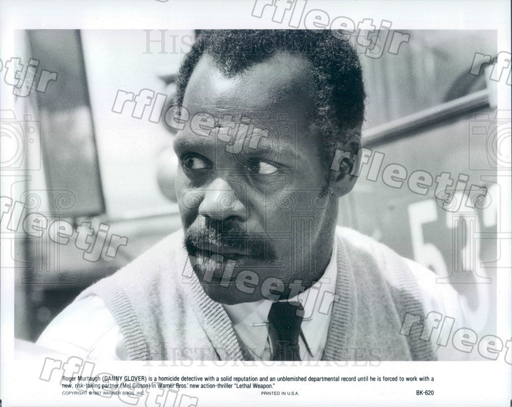 1987 Hollywood Actor Danny Glover in Film Lethal Weapon Press Photo adx1121 - Historic Images