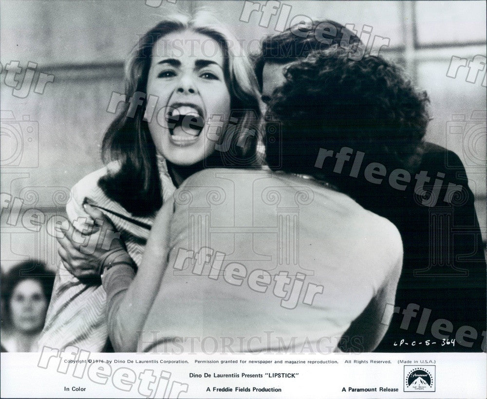 1976 American Actress Margaux Hemingway in Film Lipstick Press Photo adx1147 - Historic Images