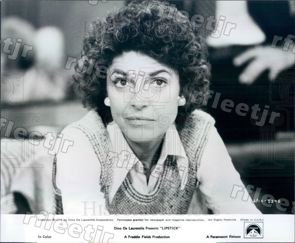 1976 Oscar Winning Actress Anne Bancroft in Film Lipstick Press Photo adx1149 - Historic Images