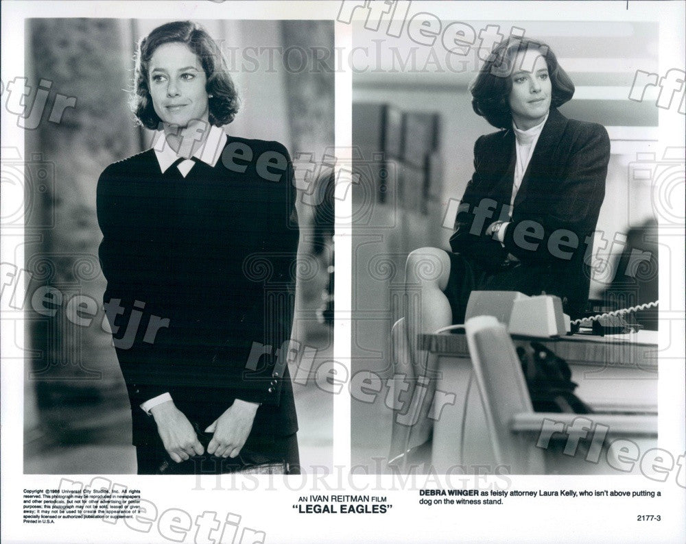 1986 Actress Debra Winger in Film Legal Eagles Press Photo adx1155 - Historic Images