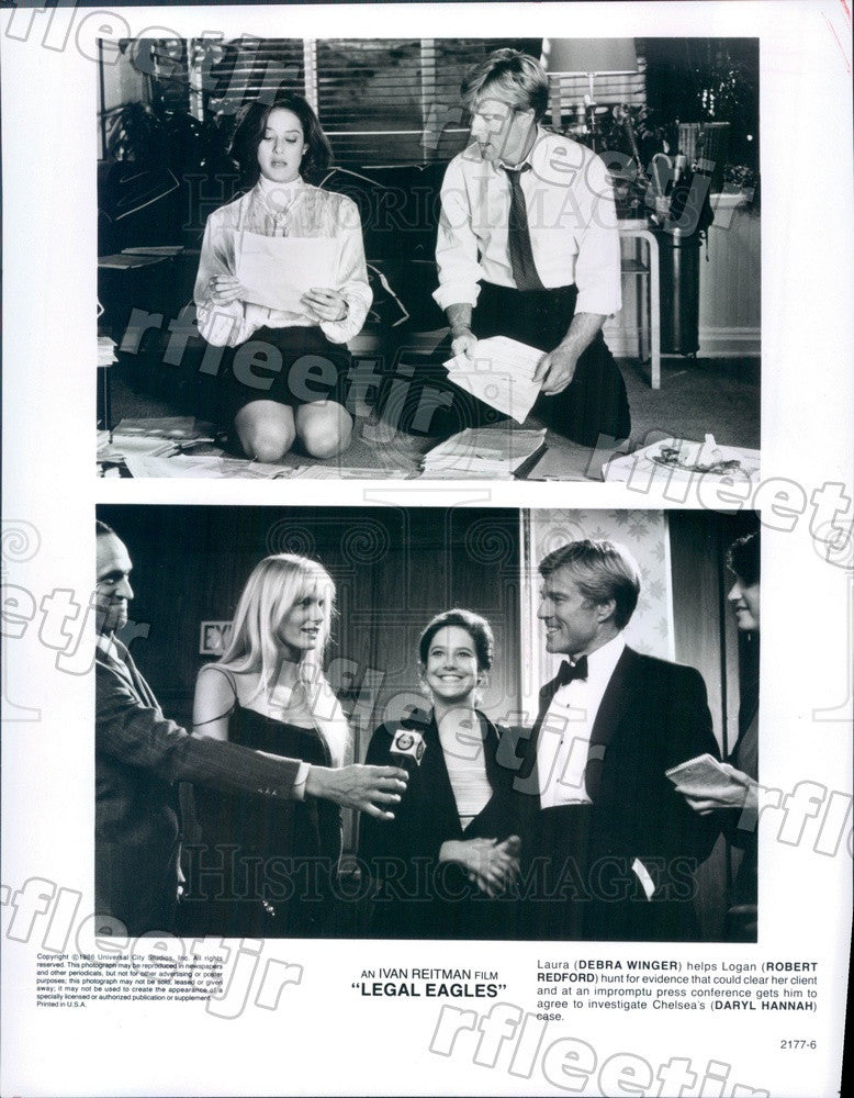1986 Oscar Winning Actor Robert Redford, Debra Winger Press Photo adx1157 - Historic Images