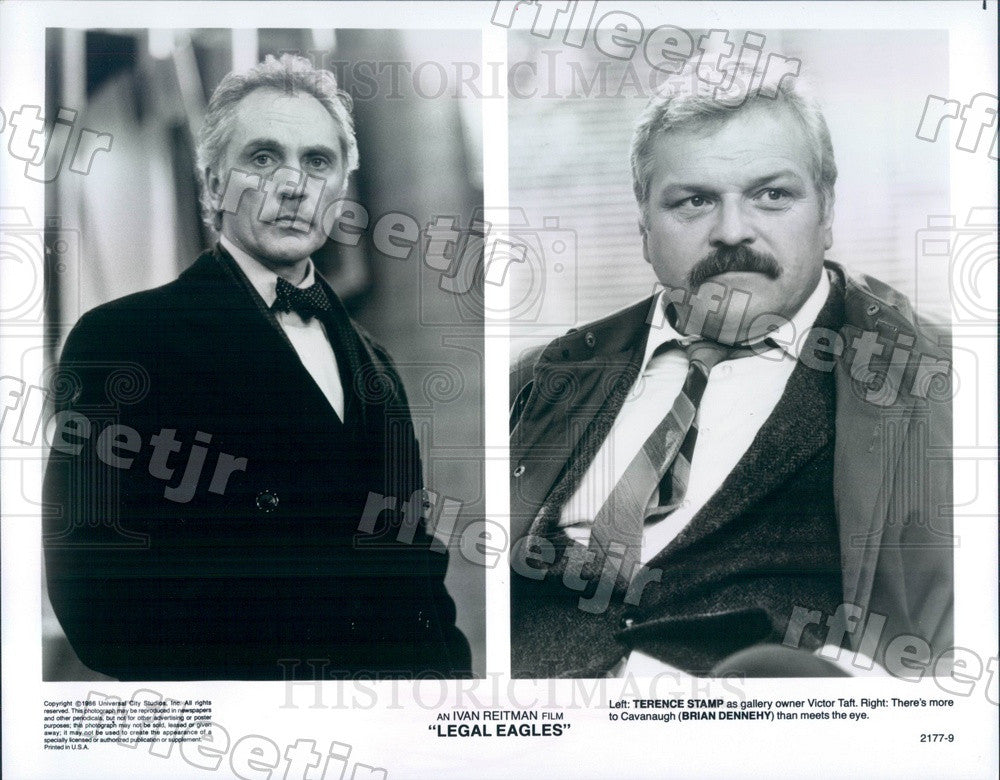 1986 Actors Terence Stamp & Brian Dennehy in Legal Eagles Press Photo adx1163 - Historic Images