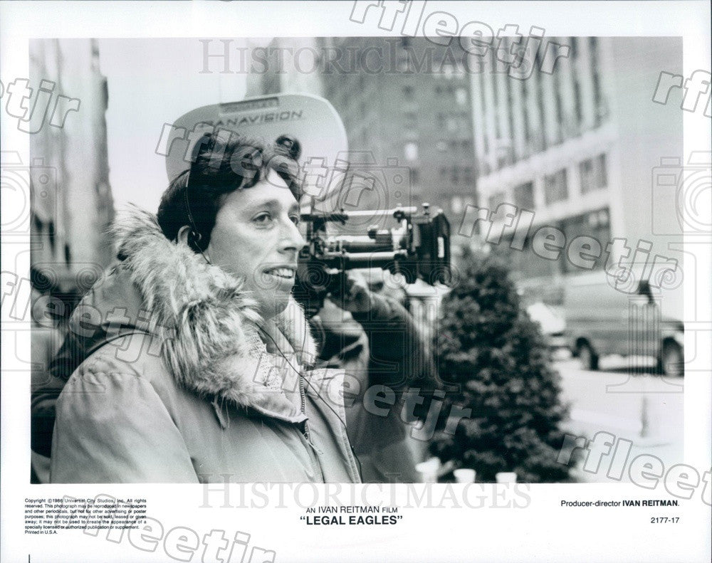1986 Producer, Director Ivan Reitman Filming Legal Eagles Press Photo adx1165 - Historic Images