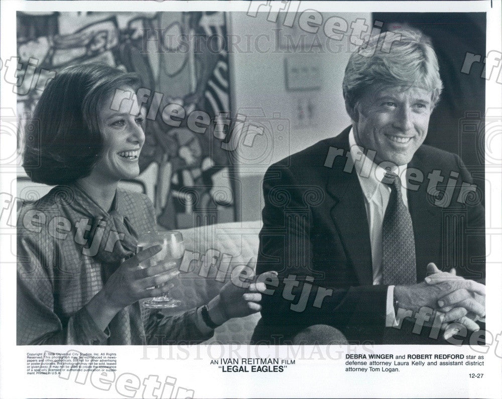 1986 Oscar Winning Actor Robert Redford, Debra Winger Press Photo adx1167 - Historic Images