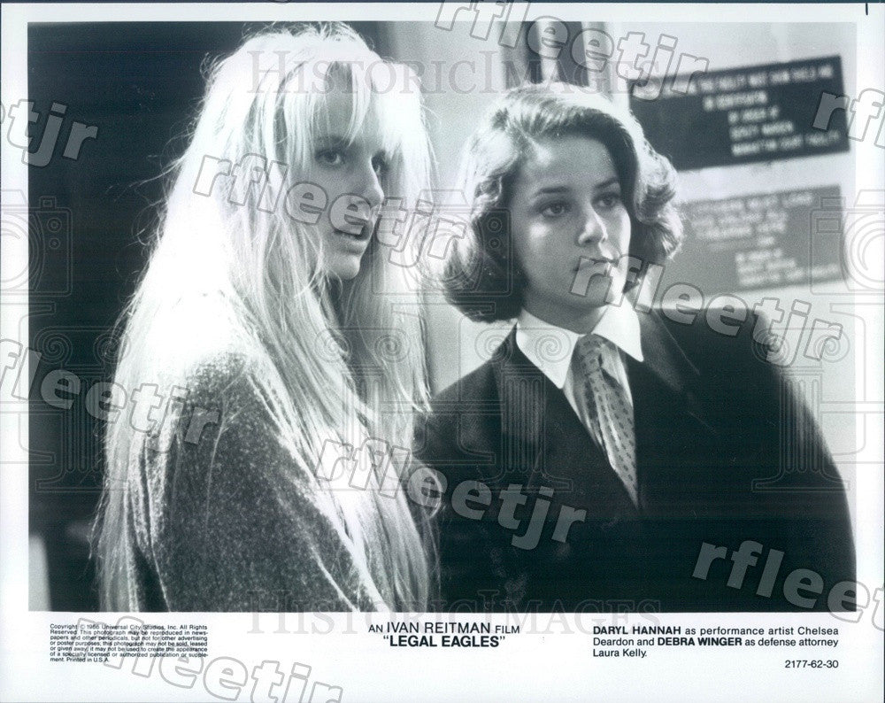 1986 Actors Debra Winger & Daryl Hannah in Film Legal Eagles Press Photo adx1169 - Historic Images