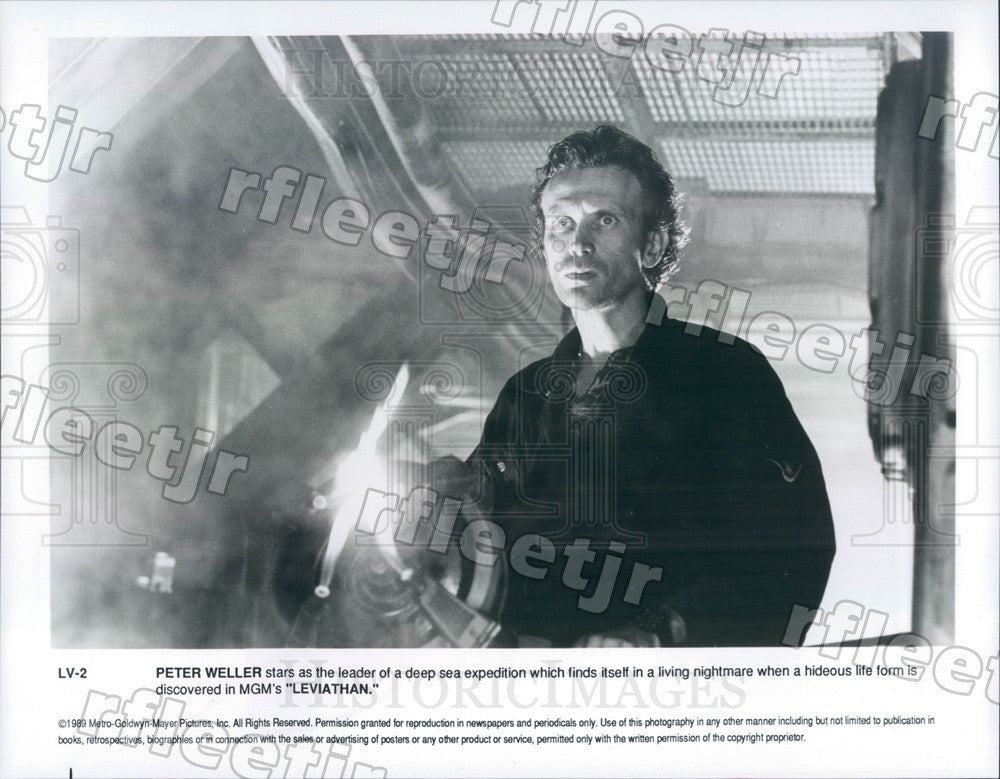 1989 American Actor Peter Weller in Film Leviathan Press Photo adx117 - Historic Images