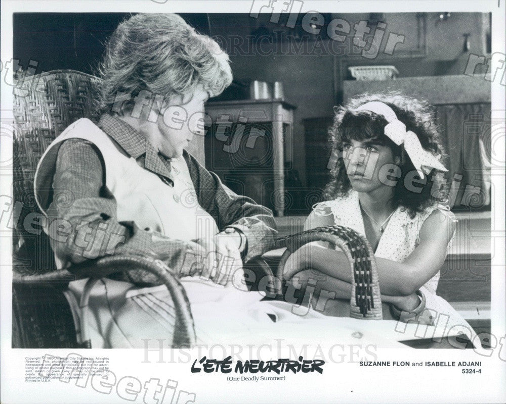 1983 French Actors Suzanne Flon & Isabelle Adjani, Cesar Press Photo adx1171 - Historic Images