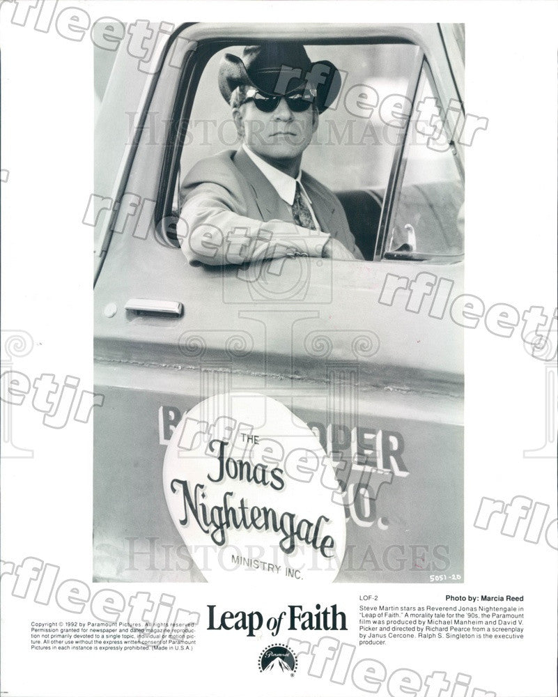 1992 Emmy Winning Actor Steve Martin in Film Leap of Faith Press Photo adx1173 - Historic Images