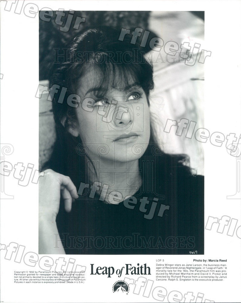 1992 Hollywood Actress Debra Winger in Film Leap of Faith Press Photo adx1175 - Historic Images