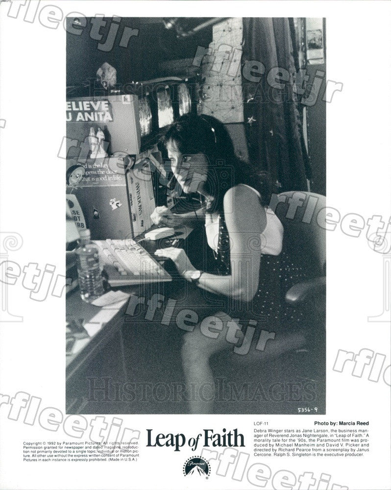 1992 Hollywood Actress Debra Winger in Film Leap of Faith Press Photo adx1177 - Historic Images