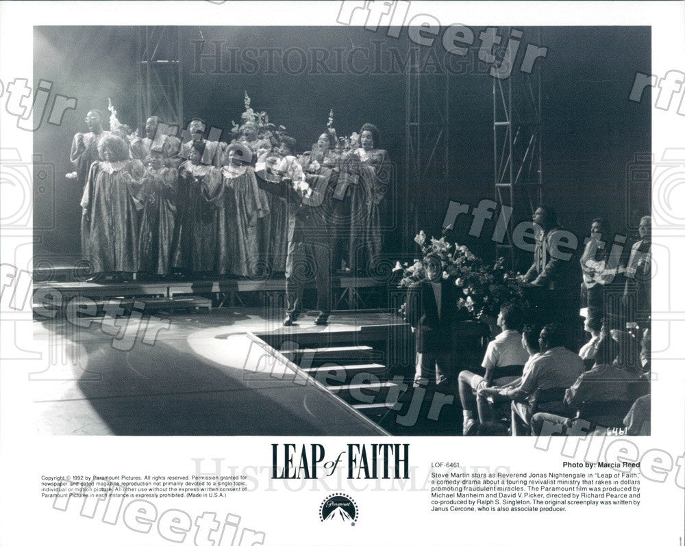 1992 Emmy Winning Actor Steve Martin in Film Leap of Faith Press Photo adx1187 - Historic Images