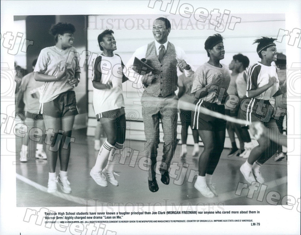 1989 Hollywood Actor Morgan Freeman in Film Lean on Me Press Photo adx1195 - Historic Images