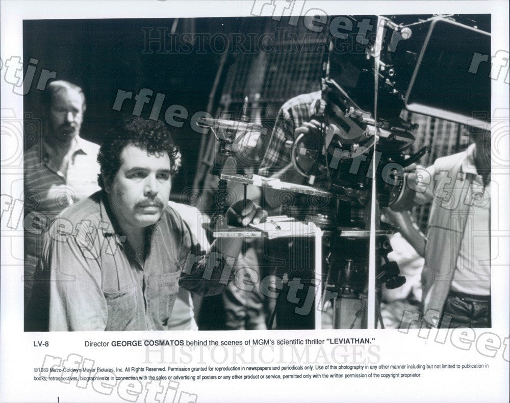 1989 Greek/Italian Director George Cosmatos Filming Leviathan Press Photo adx129 - Historic Images