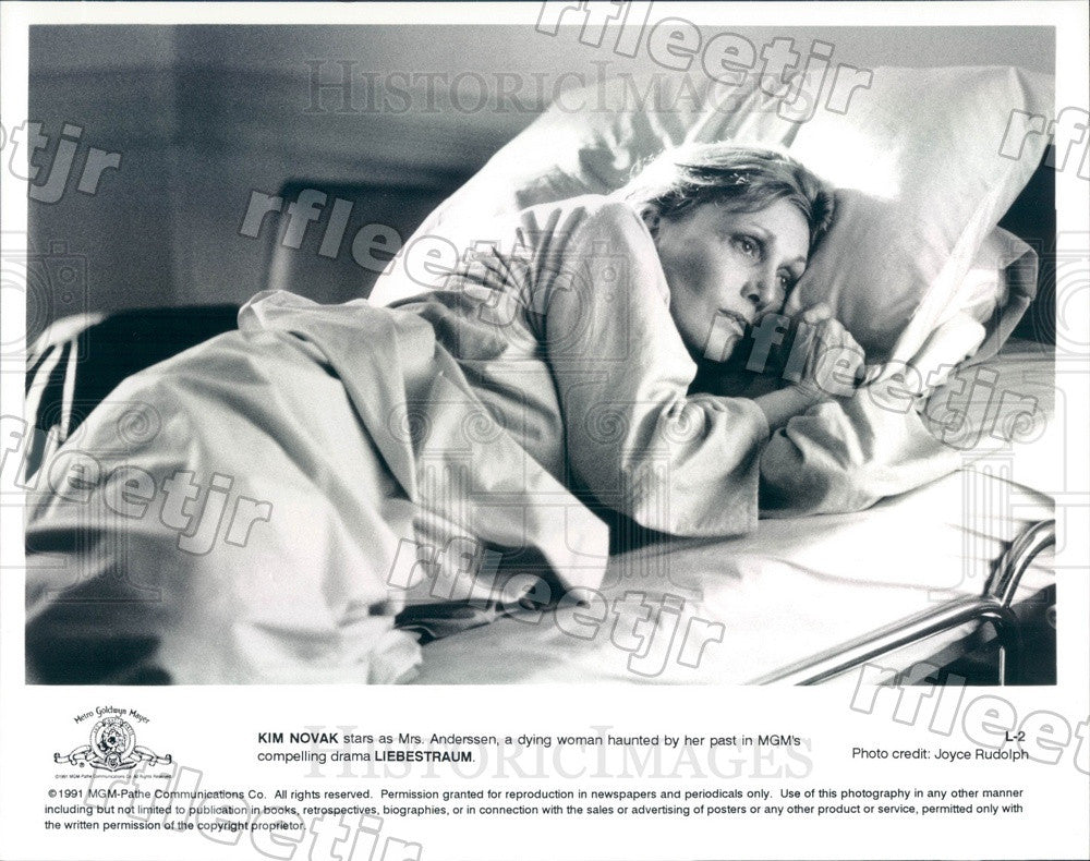 1991 American Actress Kim Novak in Film Liebestraum Press Photo adx131 - Historic Images