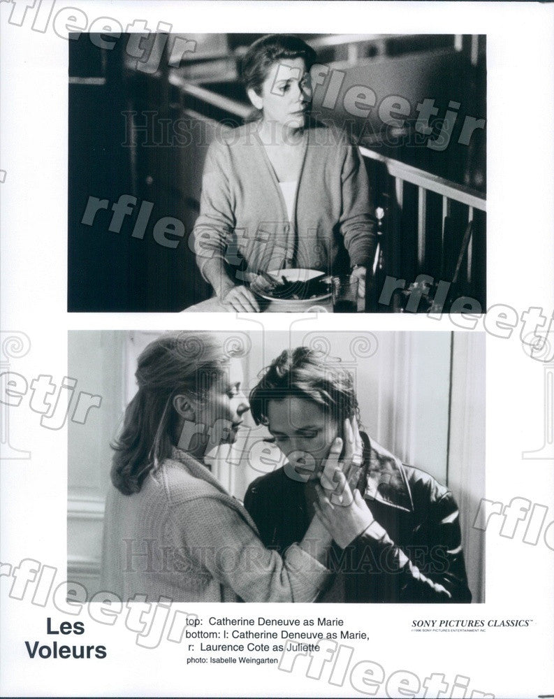 1996 Actors Catherine Deneuve & Laurence Cote in Les Voleurs Press Photo adx139 - Historic Images